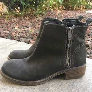 9 LUCKY BRAND Green Leather Booties